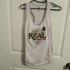 Adidas Real salt lake soccer racerback tank top